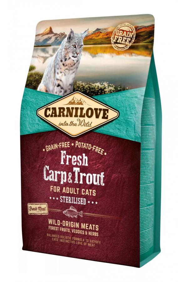 Brit Carnilove Fresh Carp & Trout Karp Pstrąg Sterilised Cats 2 kg