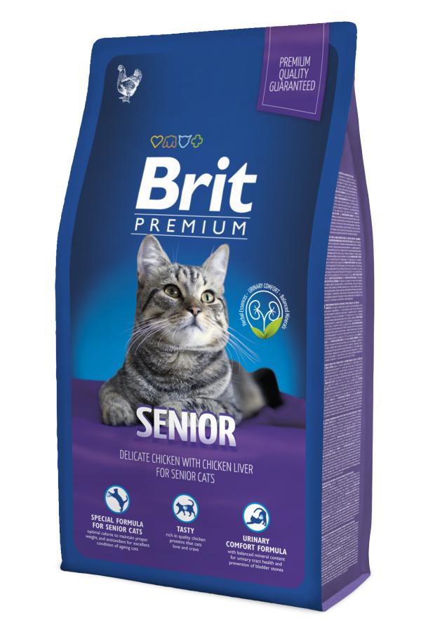 Brit Premium Senior Kurczak Wątróbka 800 g