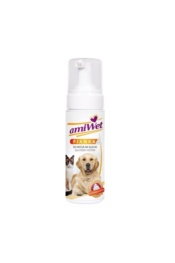 Amiwet-szampon suchy piankowy 150 ml *płyn  *butelka