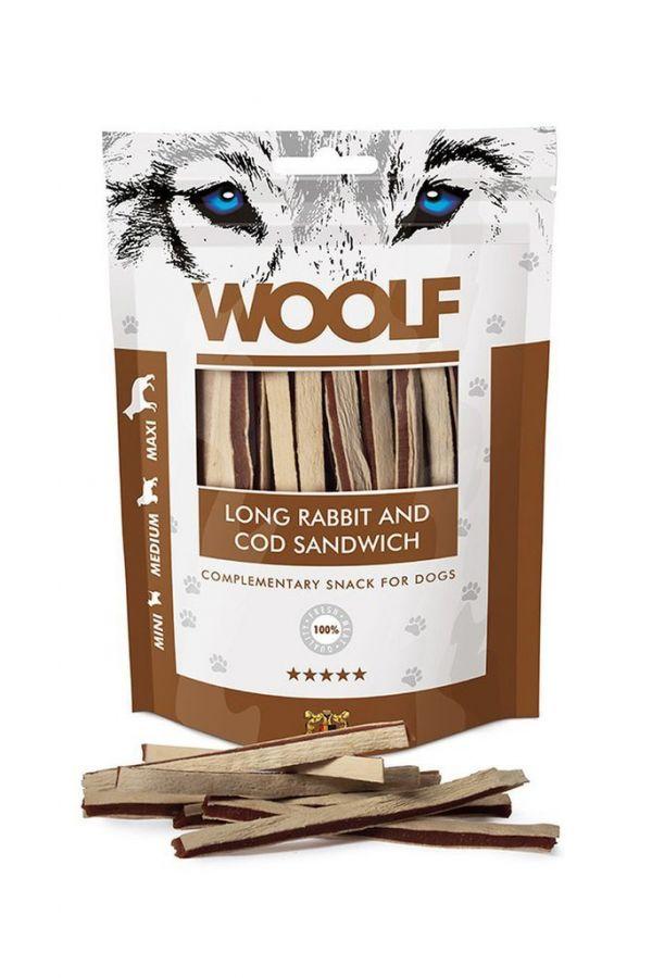 Woolf Soft Rabbit and Cod Sandwich Królik Dorsz 100 g