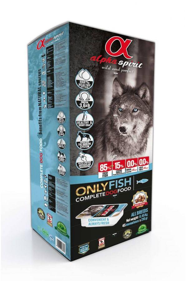Alpha spirit only fish complete dog food 9,5 kg