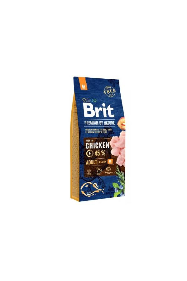 Brit Premium By Nature Adult Medium Kurczak 2 x 15 kg