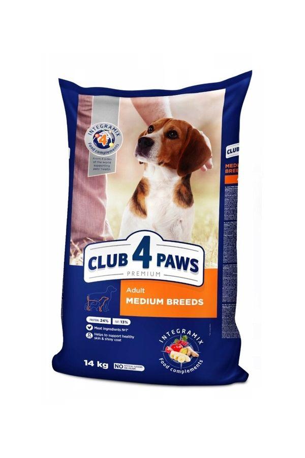 Club 4 Paws dla Dorosłych Psów Średnich Ras 2 kg