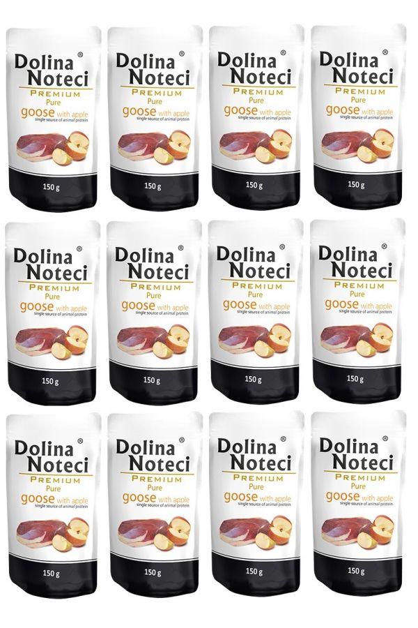 Pakiet Dolina Noteci Premium Pure Gęś z Jabłkiem 12 x 150 g