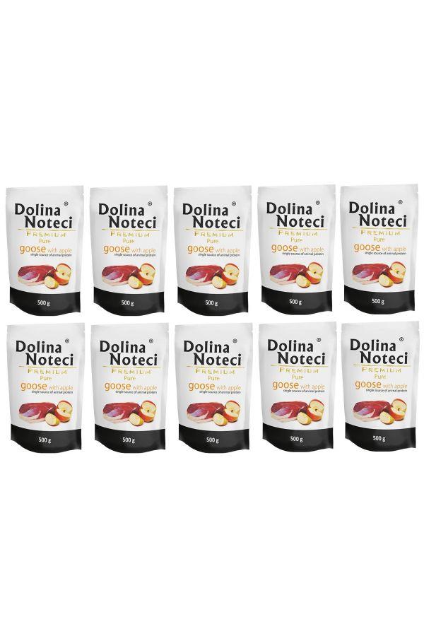 Pakiet Dolina Noteci Premium Pure Gęś z Jabłkiem 10 x 500 g