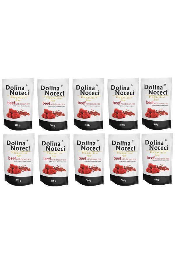 Pakiet Dolina Noteci Premium Pure Wołowina z Brązowym Ryżem 10 x 500 g