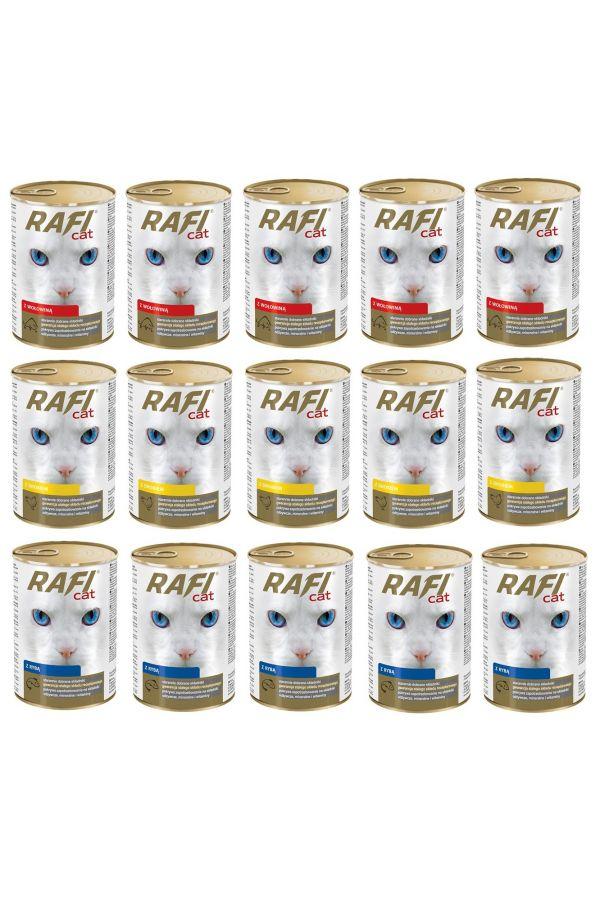 Pakiet Dolina Noteci Rafi Cat Mix Smaków 15 x 415 g