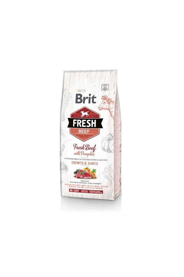 Brit Fresh Beef With Pumpkin Wołowina Dynia Large Breed Puppies & Junior Dogs 2,5 kg