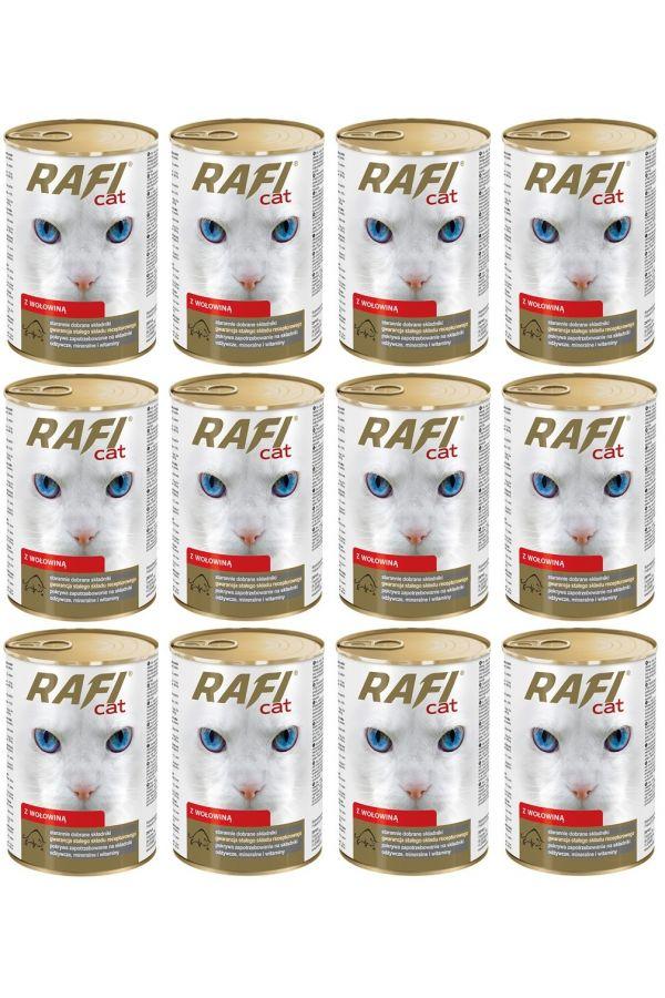 Pakiet Dolina Noteci Rafi Cat z Wołowiną 12 x 415 g