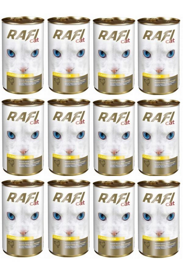 Pakiet Dolina Noteci Rafi Cat z Drobiem 12 x 415 g