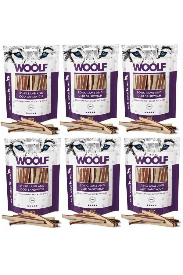Pakiet Woolf Long Lamb and Cod Sandwich Jagnięcina Dorsz 6 x 100 g