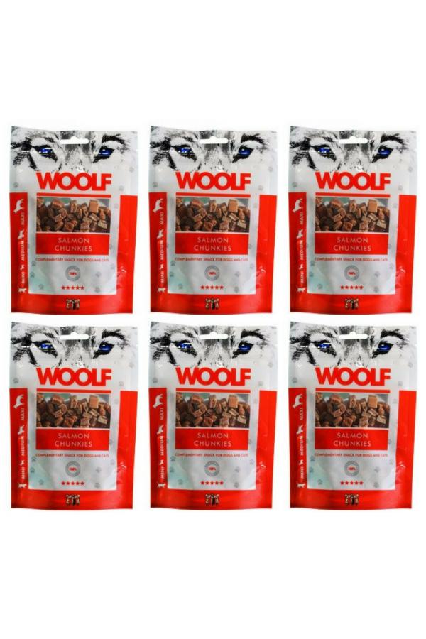 Pakiet Brit Woolf Salmon Chunkies Łosoś  6 x 100 g
