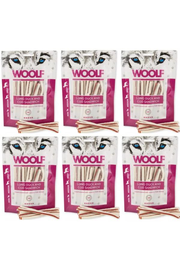 Pakiet Woolf Long Duck and Cod Sandwich Kaczka Dorsz 6 x 100 g