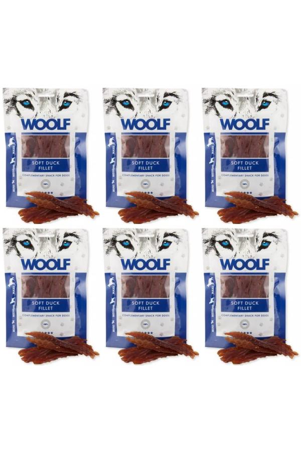 Pakiet Woolf Soft Duck Jerky Fillet Kaczka 6 x 100 g
