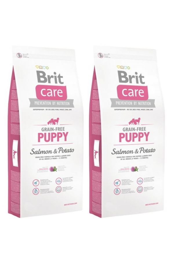 Pakiet brit care grain free puppy  salmon & potato 2x12 kg