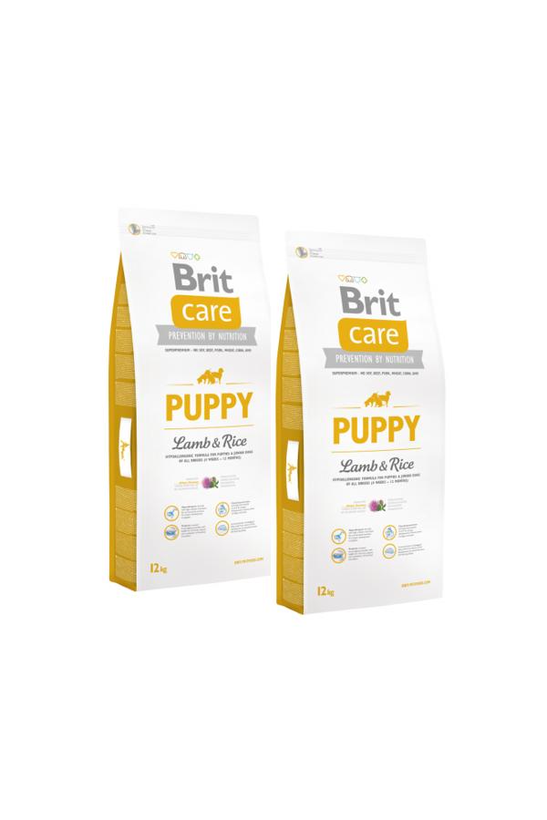 Pakiet Brit Care Lamb & Rice Jagnięcina Puppy 2 x 12 kg
