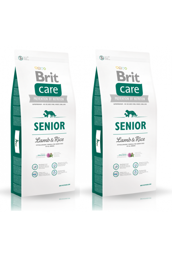 Pakiet Brit Care Lamb & Rice Jagnięcina Senior 2 x 12 kg