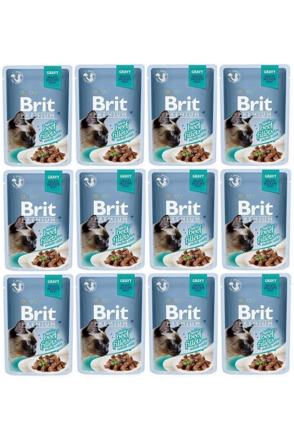 Pakiet Brit Premium Beef Fillets Wołowina 12 x 85 g