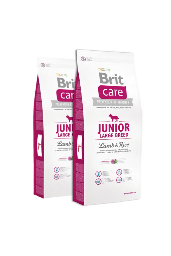 Pakiet Brit Care Lamb & Rice Jagnięcina Junior Large Breed 2 x 12 kg