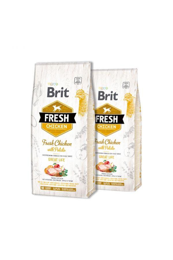 Pakiet brit fresh chicken with potato 2 x 2.5 kg