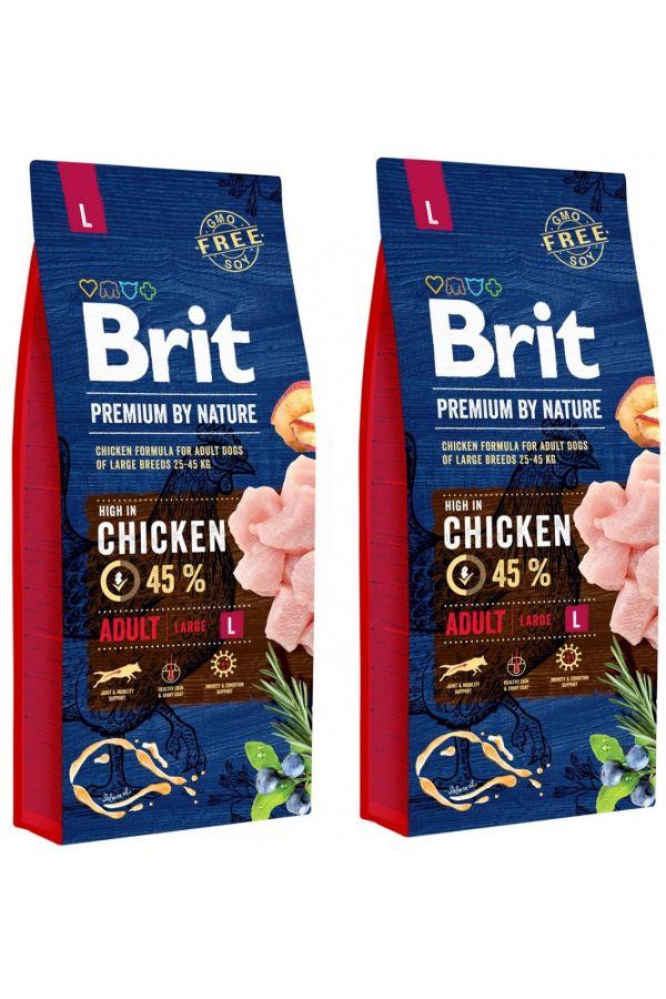 Pakiet Brit Premium By Nature Adult L 2 x 3 kg