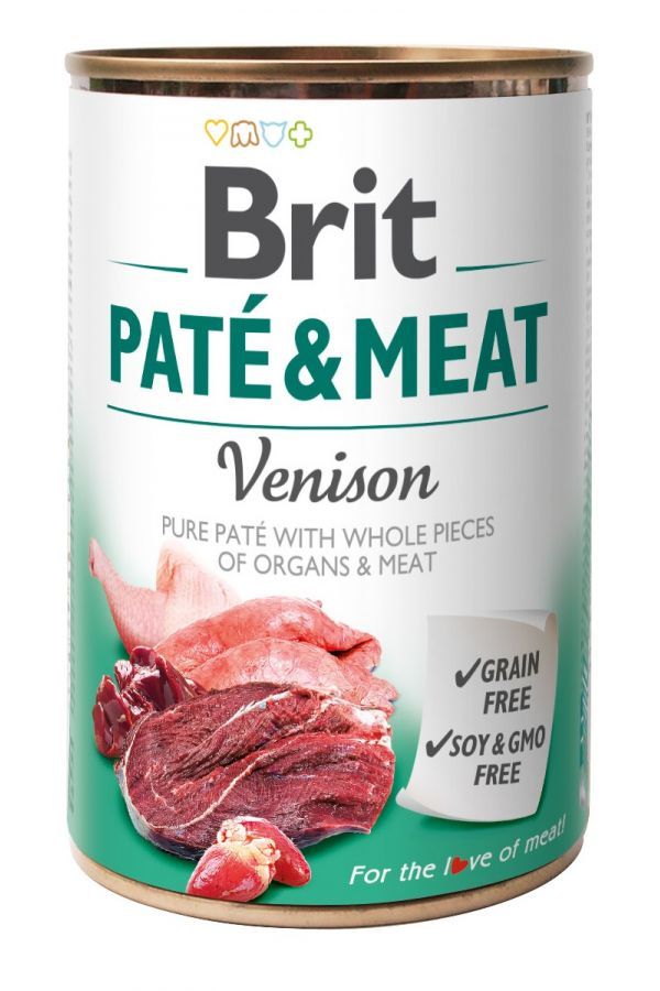 Brit Pate & Meat Venison Dziczyzna 400 g