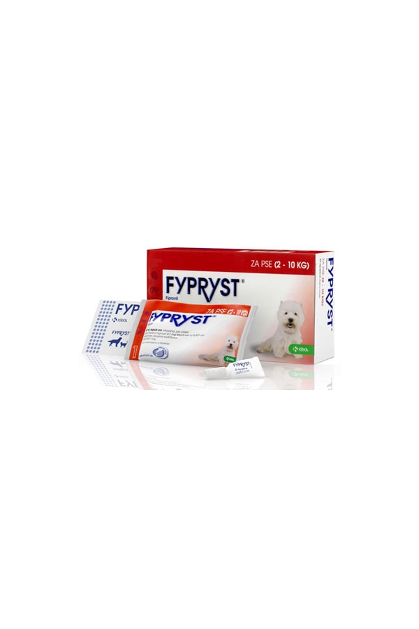 Fypryst Spot on 67 mg / 0,67 ml dla Psów 2 - 10 kg 10 Pipet