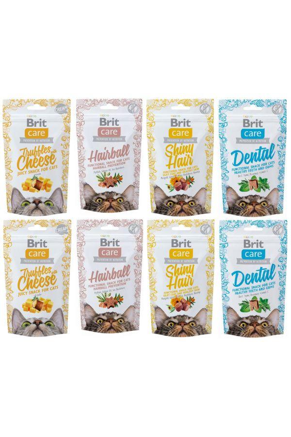 Pakiet przysmaków na dzień kota brit care snack mix smaków 8 x 50 g