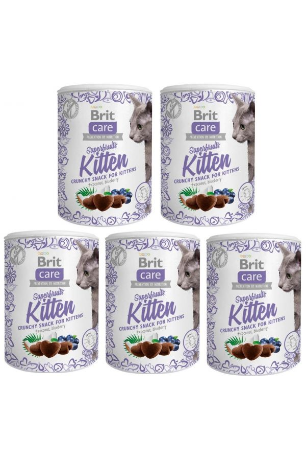 Pakiet Przysmaków Brit Care Snack Superfruits Kitten 5 x 100 g