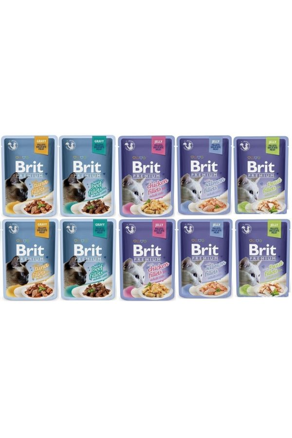 Pakiet Brit Premium Mix Smaków 10 x 85 g