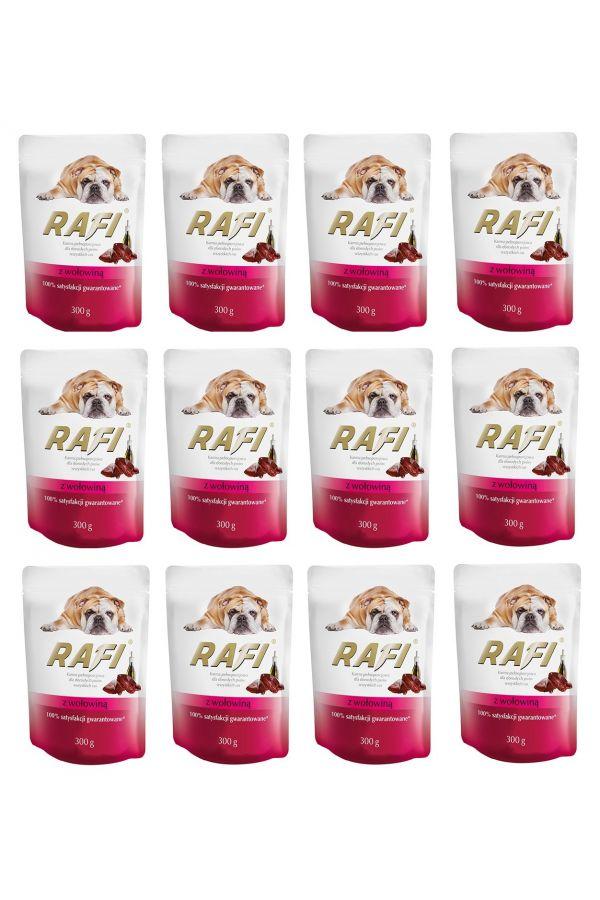Pakiet Dolina Noteci Rafi z Wołowiną 12 x 300 g