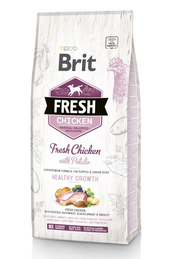 Brit Fresh Chicken With Potato Kurczak Bataty Puppy 2,5 kg