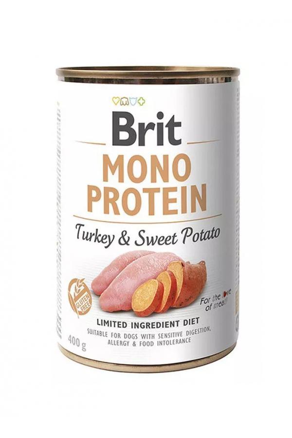 Brit Mono Protein Turkey & Sweet Potato Indyk Batat 400 g