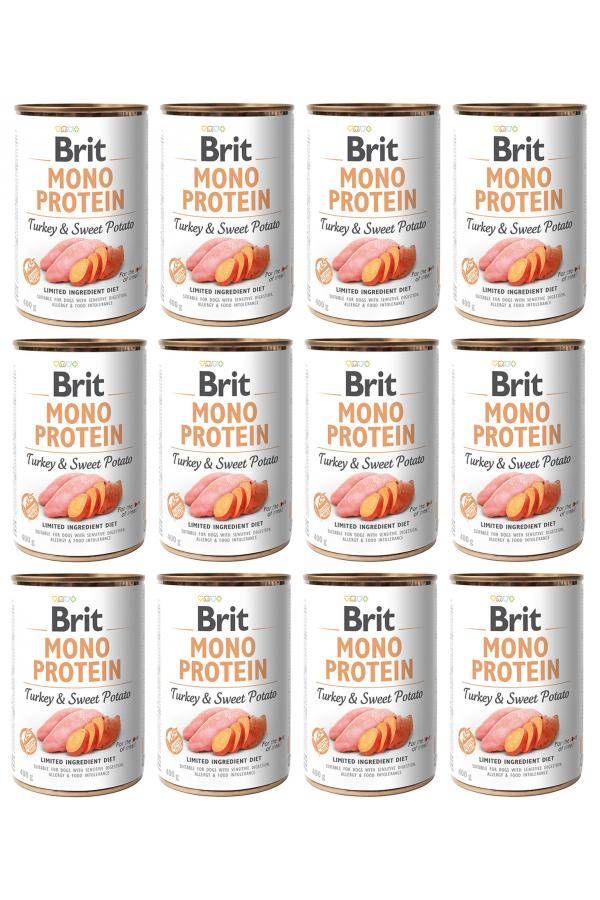 Pakiet Brit Mono Protein Turkey & Sweet Potato Indyk Bataty 12 x 400 g