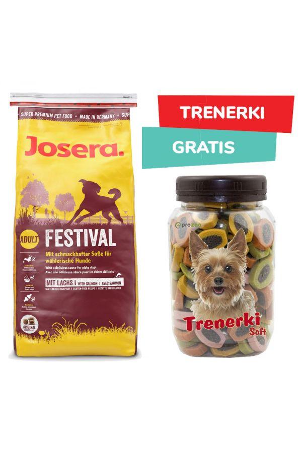 Pakiet Josera Festival Łosoś 15 kg + Pro Trenerki Soft 300 g GRATIS