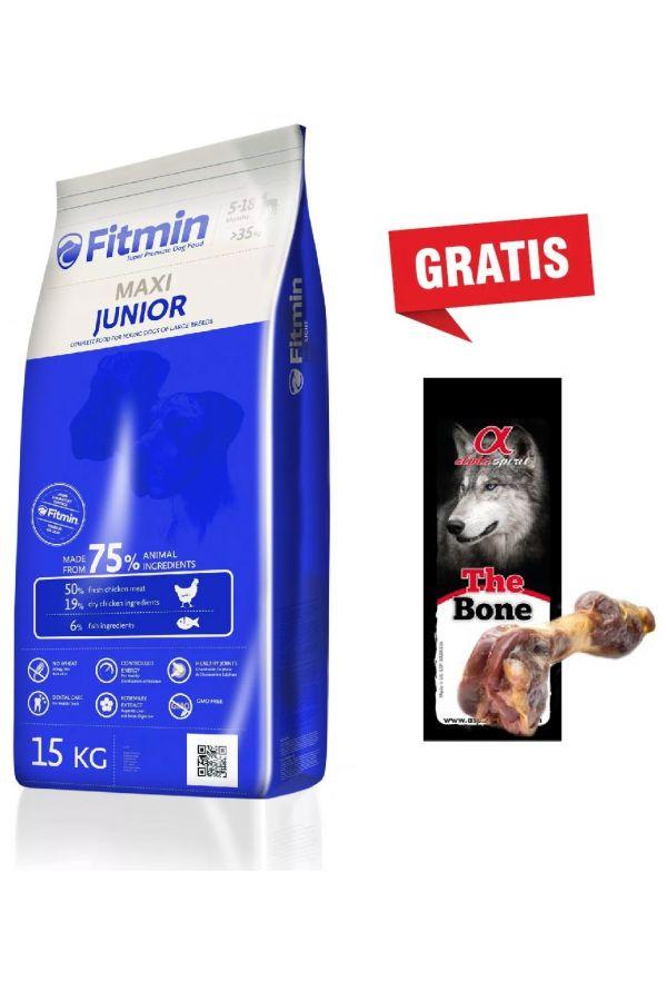 Pakiet Fitmin Maxi Junior 15 kg + Hiszpańska Noga Szynkowa GRATIS
