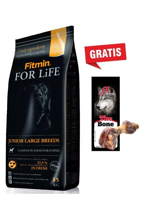 Pakiet Fitmin For Life Junior Large Breed 15 kg + Noga hiszpańska GRATIS
