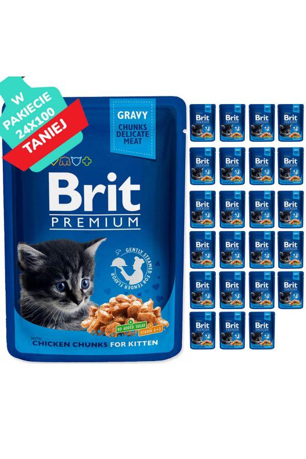 Brit Premium Kitten Chicken Chunks Kurczak 24 x 100 g