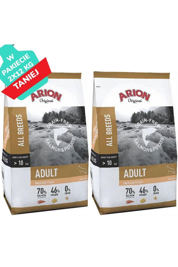 Arion Original Adult Grain Free Salmon & Potato Bezzbożowa Łosoś 2 x 12 kg