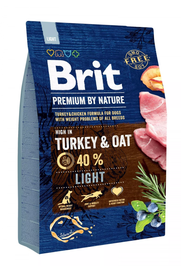 Pakiet Brit Premium By Nature Oat & Turkey Owies Indyk 15 kg + Brit Let s Bite Beef Stick 12 g GRATIS !