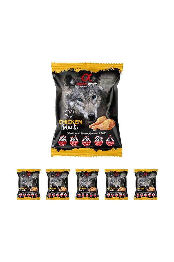 Pakiet Alpha Spirit Przysmak w Kostkach dla Psa z Kurczakiem 6 x 50 g
