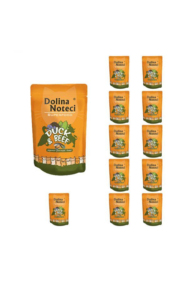 Pakiet Dolina Noteci Superfood Cat Kaczka z Wołowiną 12 x 85 g