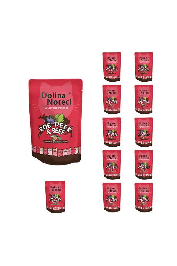 Pakiet Dolina Noteci Superfood Cat z Sarną i Wołowiną 12 x 85 g