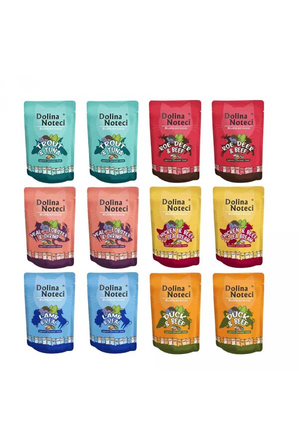 Pakiet Dolina Noteci Superfood Cat Mix Smaków 12 x 85 g