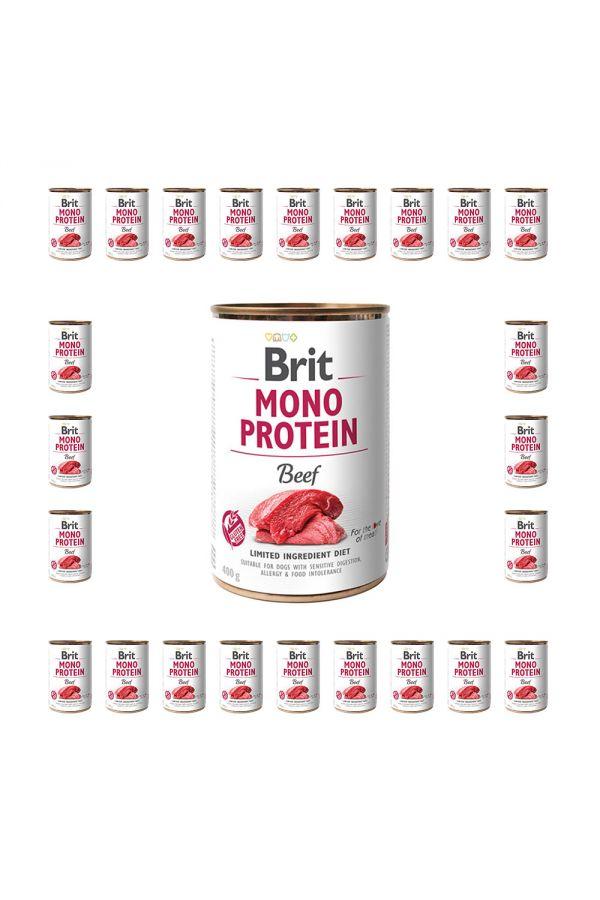 Pakiet Brit Mono Protein Beef Wołowina 24 x 400 g