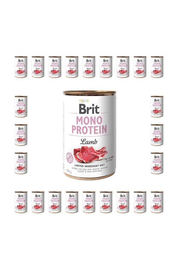 Pakiet Brit Mono Protein Lamb Jagnięcina 24  x 400 g