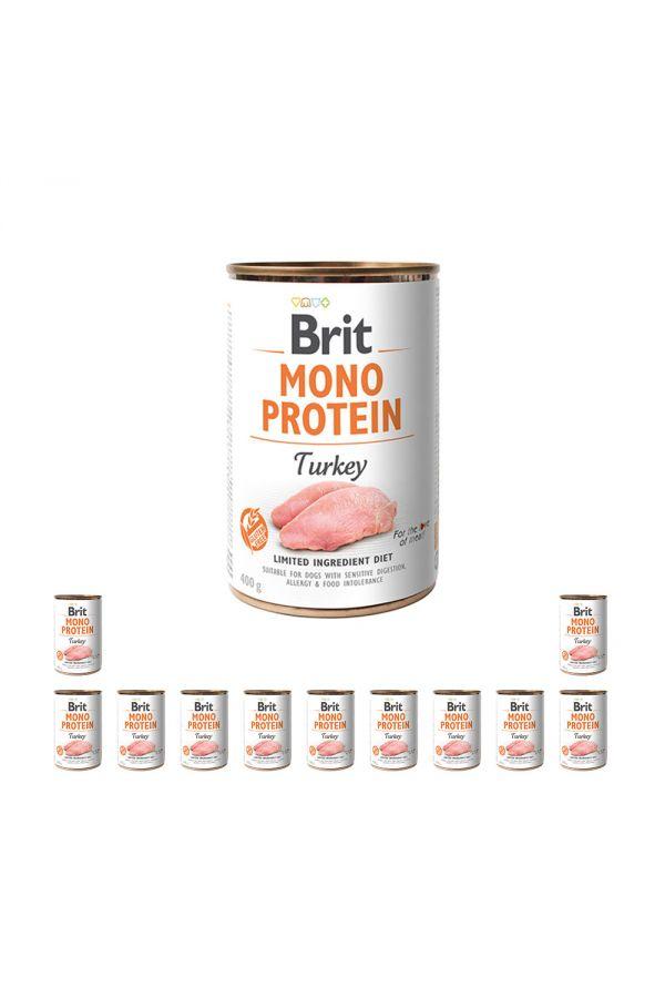 Pakiet Brit Mono Protein Turkey Indyk 12 x 400 g