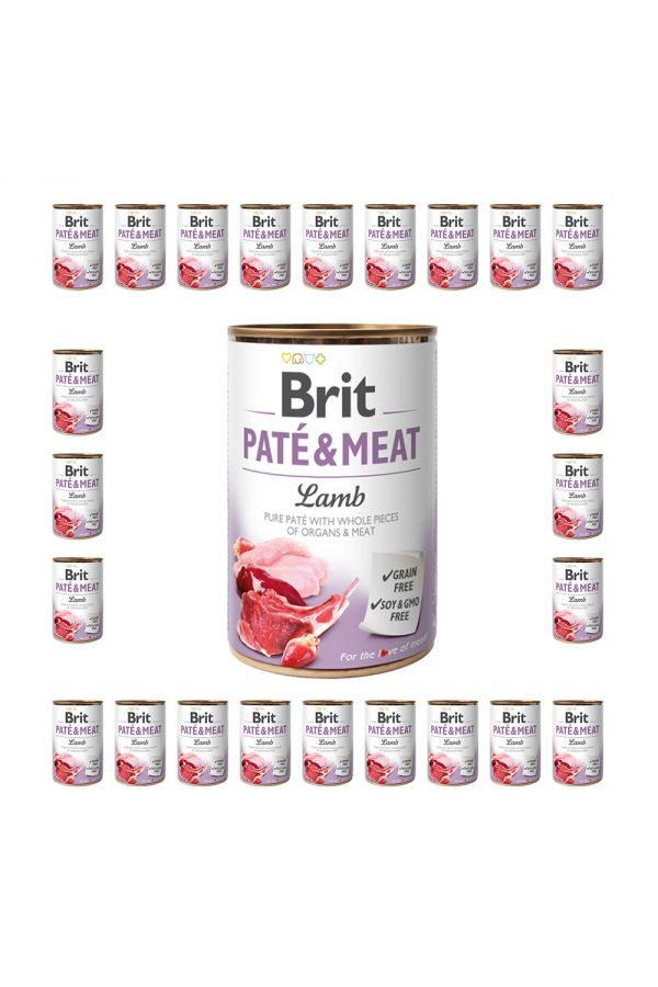 Pakiet Brit Pate & Meat Lamb Jagnięcina 24 x 400 g