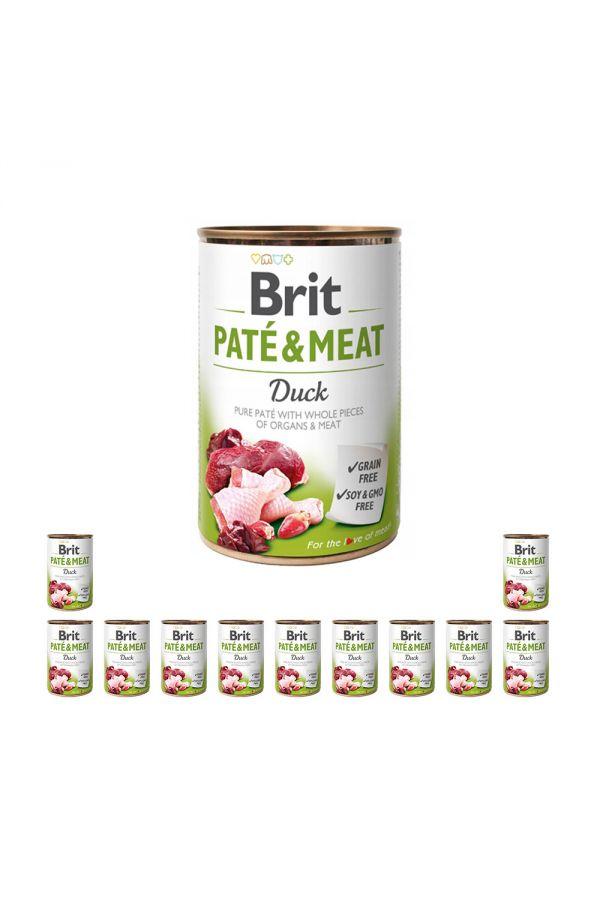 Pakiet Brit Pate & Meat Duck Kaczka 12 x 400 g