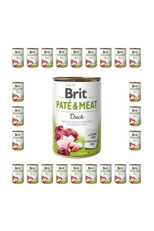 Pakiet Brit Pate & Meat Duck Kaczka 24 x 400 g